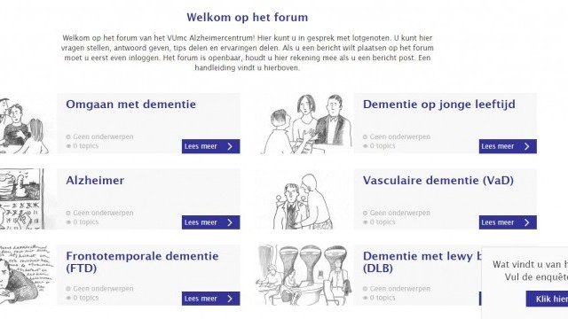 Interactieve modules live op website VUmc Alzheimercentrum